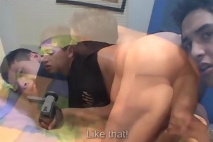 Dude Gets His Cock Wanked And Sucked By Other Guy