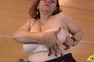 Horny Bbw Pleasing Herself With Several Sex Toys
