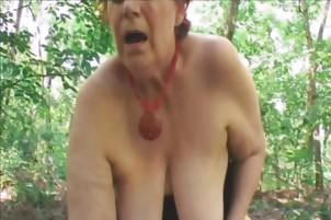 Chubby Redhead Mature Tamara Fucked Outdoors