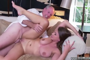 Old man teacher Ivy impresses with her enormous melons and as