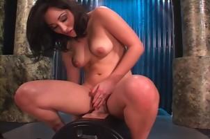 Sexy Brunette Roxy Jezel Masturbates Her Tight Pussy