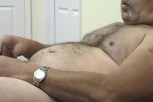 Old Man Likes To Play With His Cock And Ass