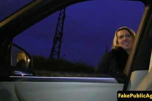 Amateur eurobabe nailed on cars tailgate after oudoor bj