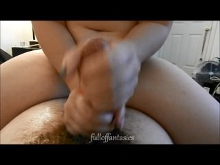 amateur two-handed handjob