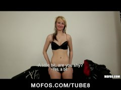 Natural blonde Czech girl gets an audition with the casting couch