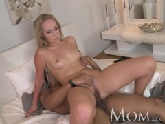 MOM Slender mature blonde hottie likes it hard and rough