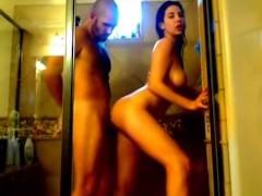 Sensual Shower Sex With a Leggy Girlfriend