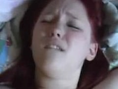 Chubby red head get creampied