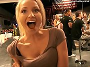 hot chick in a bar shows me everything