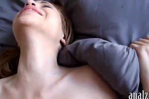 Hot girlfriend first time anal sex while being filmed