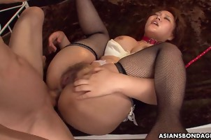 Redhead Is Bent Over And Fucked In Her Butthole