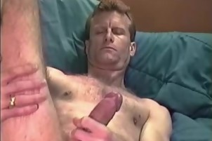 Dude With A Hairy Dong Takes It Out And Strokes It