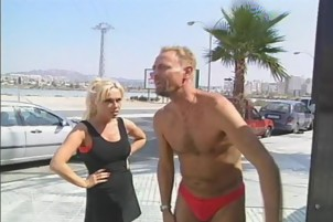 Watch This Hot Babe With Short Hair Fuck Outdoors