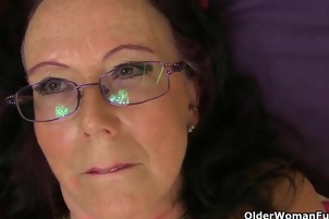 Mature Grannies Have Fun With Big Dildos