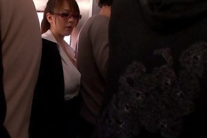 Asian Passenger Sucks A Cock In The Bathroom