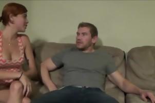 A Cute Redhead Has Some Fun In A Threesome
