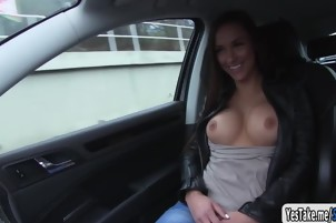 Victoria tight ass fuck in the backseat