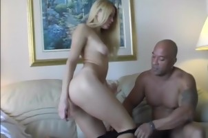 Blonde Babe Gets Fucked By A Big Black Dick