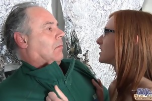 Man Goes Balls Deep With A Hot Redhead All Day Long