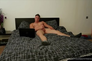 A Lonely Guy Rubs One Out In His Bedroom