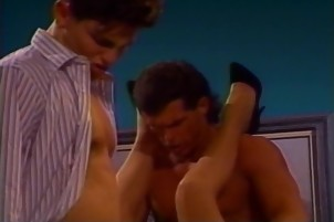 Horny Redhead Gets Double Penetration In Retro Porn