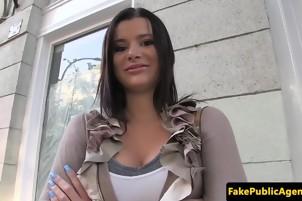 Sexy Babe Strokes And Sucks A Fat Cock For A Job