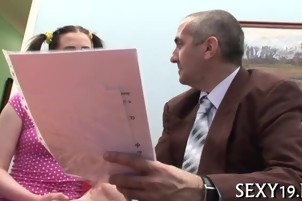 Teacher pounds babe senseless