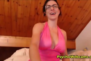 Dirty Talk French Woman with Extremely Long Tongue