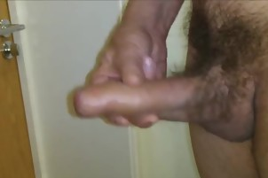 Jerking Thick Uncut Cock