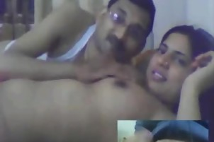 mArried desi couple webcam show