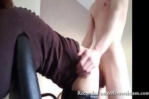 Homemade amateur doggystyle on webcam hard fuck with cum