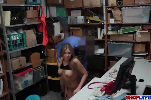 Teen thief Blair Williams fucked like she deserves