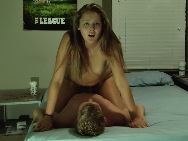 Cute college girl riding and getting pounded