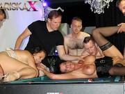 MARISKAX Two big titty milf take turns fucking 6 men