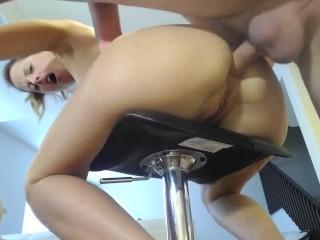 Amateur slut brutal anal sex and deepthroat on webcam