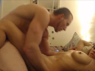 PERFECT OILED UP ASS, RIDES AMATEUR HOT BOYFRIEND